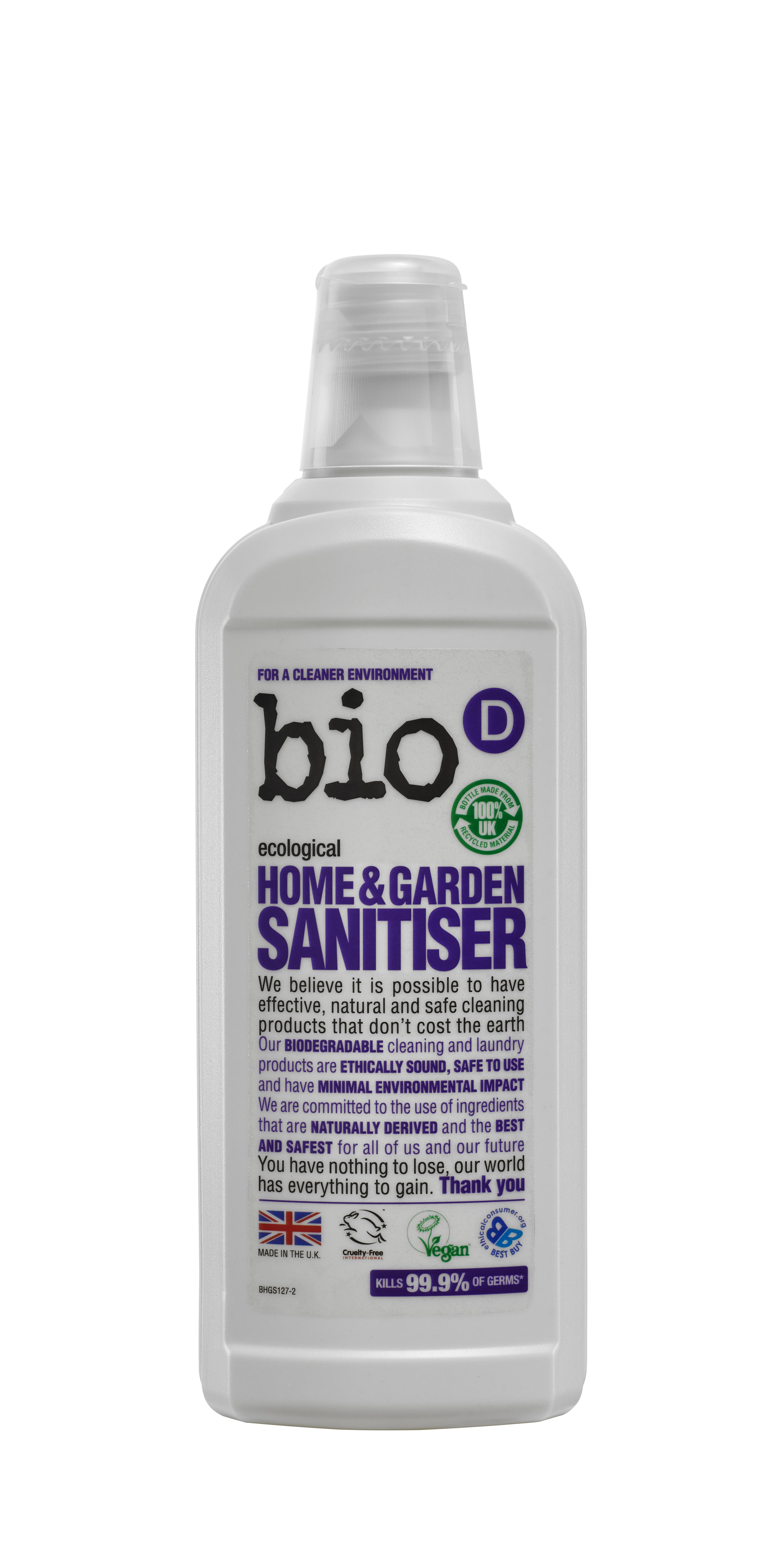 Bio-D Home & Garden Sanitiser 750ml (BHG